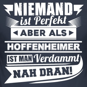 Nobody's perfect - Hoffenheim T-Shirt - Men's Slim Fit T-Shirt