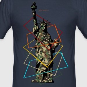 Militay Statue of Liberty - slim fit T-shirt