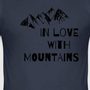 In Love With Mountains T-Shirt - Men's Slim Fit T-Shirt