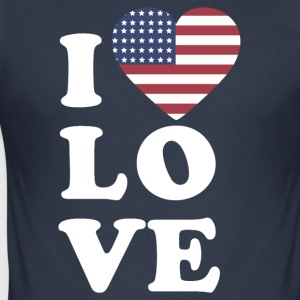 I love USA - Men's Slim Fit T-Shirt