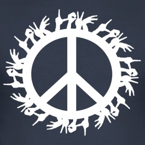 ++ ++ Love & Peace - Men's Slim Fit T-Shirt