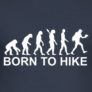 Born to hike white - Men's Slim Fit T-Shirt