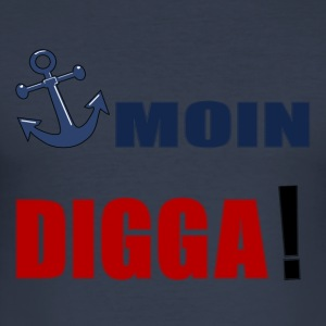 MOIN_DIGGA - Slim Fit T-shirt herr