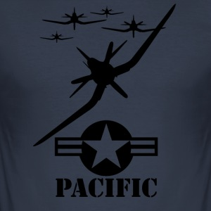pacific Blak - Slim Fit T-skjorte for menn