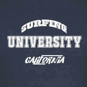 Surfen Universität T-Shirt - Männer Slim Fit T-Shirt
