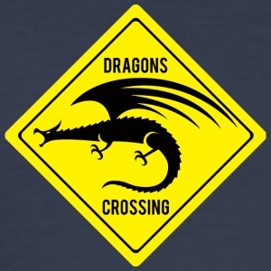 Fantasy / Dragon: Dragons Crossing - Slim Fit T-shirt herr