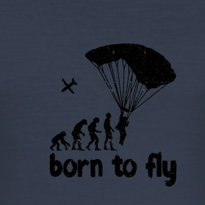 Evolution Skydiving - born to fly - Men's Slim Fit T-Shirt