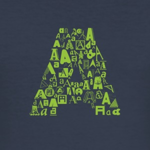 Font Fashion A - Men's Slim Fit T-Shirt