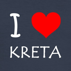 I Love Kreta - Männer Slim Fit T-Shirt