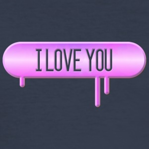 I LOVE YOU 003 round ontwerpen - slim fit T-shirt