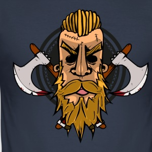 Viking hoved - Herre Slim Fit T-Shirt