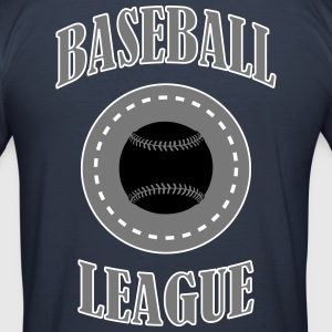Baseball League - Slim Fit T-skjorte for menn