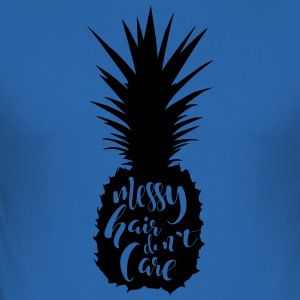 Haar / ananas: Slordig Haar Do not Care - slim fit T-shirt