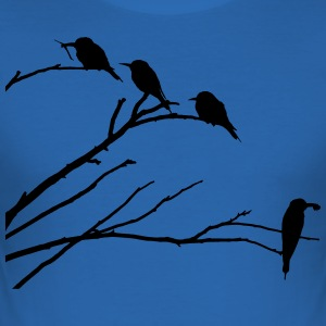 Vogels op tak - slim fit T-shirt