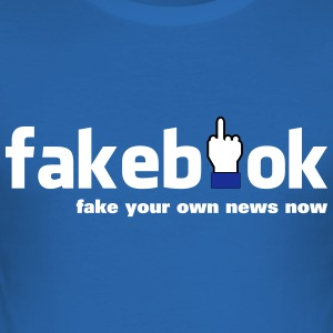 fakebook - Männer Slim Fit T-Shirt