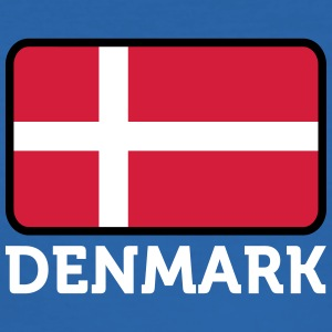 National Flag Of Denmark - Men's Slim Fit T-Shirt