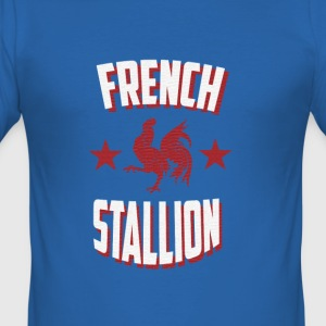 French Stallion - Men's Slim Fit T-Shirt