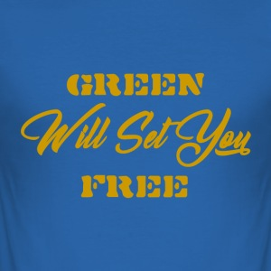 Groen - slim fit T-shirt