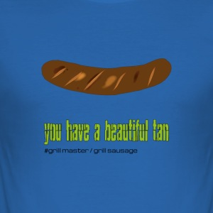 "Grillmeister ""beautiful tan"" - Men's Slim Fit T-Shirt"