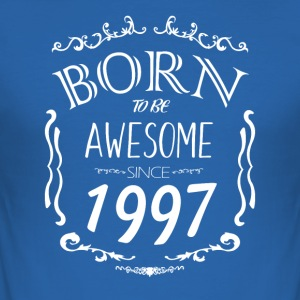 Born to be Awesome siden 1997 - Herre Slim Fit T-Shirt
