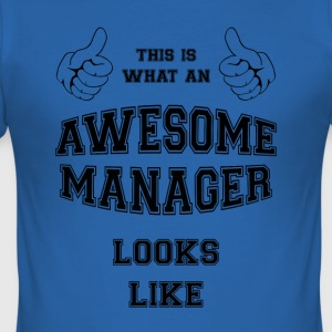 AWESOME MANAGER - Slim Fit T-skjorte for menn