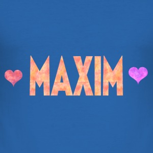 Maxim - Männer Slim Fit T-Shirt