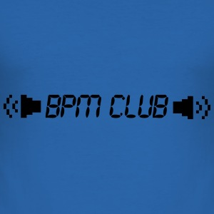 BPM Club kult motiv - Slim Fit T-skjorte for menn