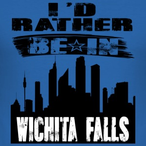 Gift Id heller være i Wichita Falls - Slim Fit T-skjorte for menn