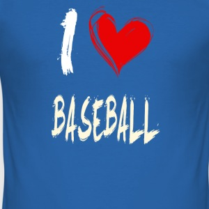 I Love Baseball - Men's Slim Fit T-Shirt