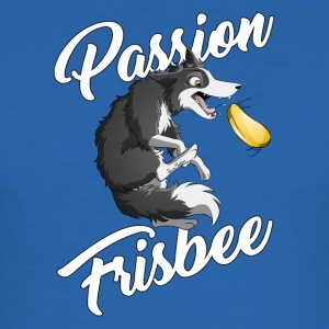 Passion Frisbee - Border - Herre Slim Fit T-Shirt