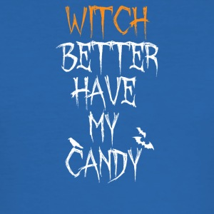 Funny Halloween Witch bedre har My Candy Tee - Slim Fit T-skjorte for menn