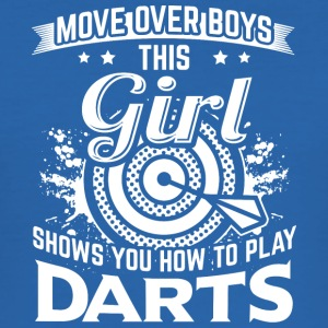 DART MOVEOVER HOW TO PLAY DARTS - Men's Slim Fit T-Shirt