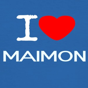 I LOVE Maimon - Herre Slim Fit T-Shirt
