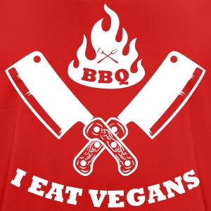 BBQ in the eat vegans - Men's Breathable T-Shirt