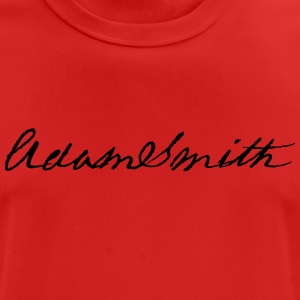 Adam Smith handtekening 1783 - mannen T-shirt ademend
