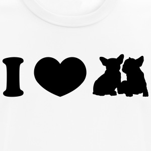 I ♥ frenchies - Camiseta hombre transpirable