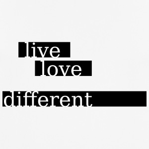 live love different - Männer T-Shirt atmungsaktiv