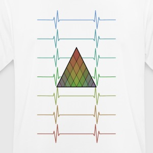 Geometric Heartbeats - Men's Breathable T-Shirt