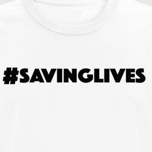 savinglives black copy - Men's Breathable T-Shirt