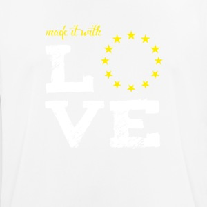 made it with love EU europe baby birth baptism star - Men's Breathable T-Shirt