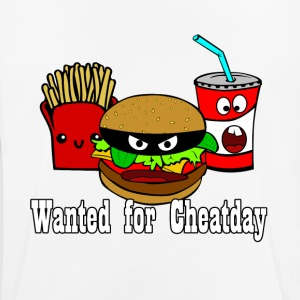 Cheatday: hamburguesas, papas fritas, refrescos - Camiseta hombre transpirable