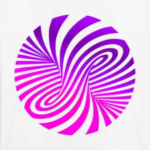 psychedelic illusion disco 60s tromb - Andningsaktiv T-shirt herr