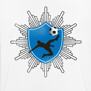 Football coat of arms ball goal shooting club team mostly - Men's Breathable T-Shirt