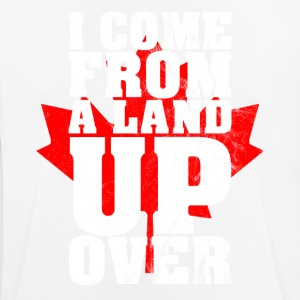 I Come From A Land Up Over Canada Maple Leaf - Men's Breathable T-Shirt