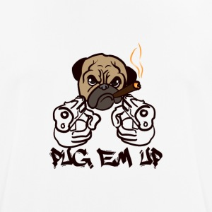 dogs | MOPS EM UP - Andningsaktiv T-shirt herr