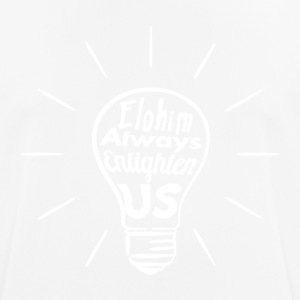 Elohim Enlighten Us - White - Men's Breathable T-Shirt