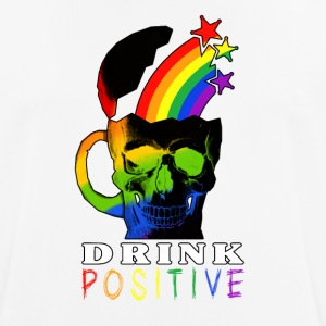 Rainbow Skull Drink - Men's Breathable T-Shirt