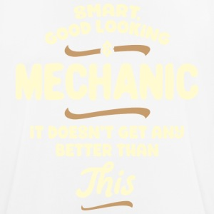 Intelligent, handsome and mechanic ... - Men's Breathable T-Shirt