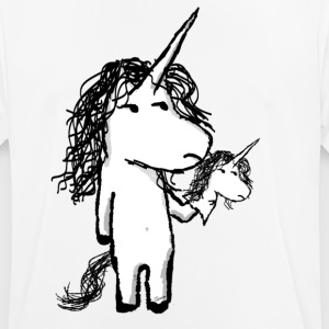 Kaede the unicorn and his angry friend - Men's Breathable T-Shirt