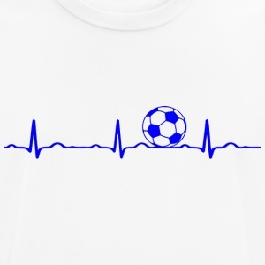 ECG HEARTBEAT Soccer blue - Men's Breathable T-Shirt